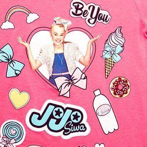 Nickelodeon JoJo Siwa Hair Bow AND  Pink Tee Shirt